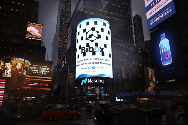 Vocean appears on Nasdaq's big screen and releases the world's first crypto bond for Bibox 2