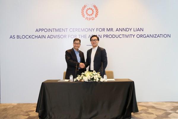 Mr. Anndy Lian Appointed as Blockchain Advisor to Asian Productivity Organization (APO) 1