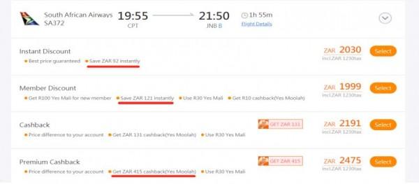 YesWeGo.com flights big promotion, earn Yes Mali, earn Yes Moolah 1
