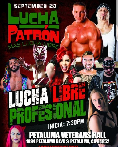 NPWL Wrestling is coming to Petaluma Sept 28th at the Petaluma Veterans Hall 2