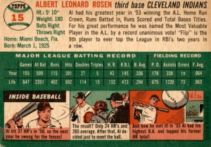 1954 Al Rosen back