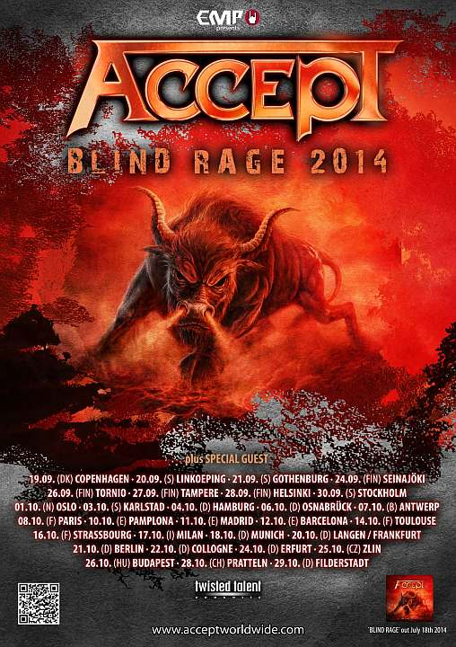 Accept - Blind Rage Tour 2014