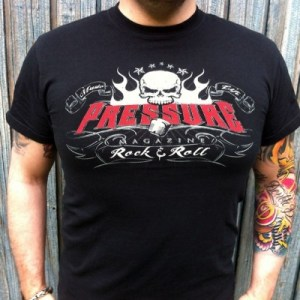 Music and Life Pressure Magazine Clothing T-Shirt