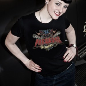 Panther T-Shirt Design by D.Vicente Pressure Magazine Clothing t-shirt women Rockabilly girl
