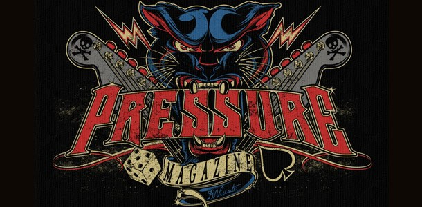 Pressure Magazne Oldskool Panther Logo mit Schriftzug