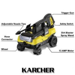 Karcher K3 FollowMe 1800 PSI 1.3GPM Electric Power Pressure Washer