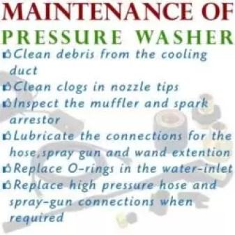 pressure washer maintenance
