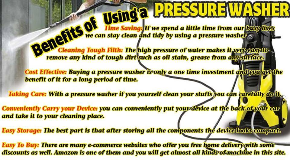 Top 7 Benefits of Using a Pressure Washer
