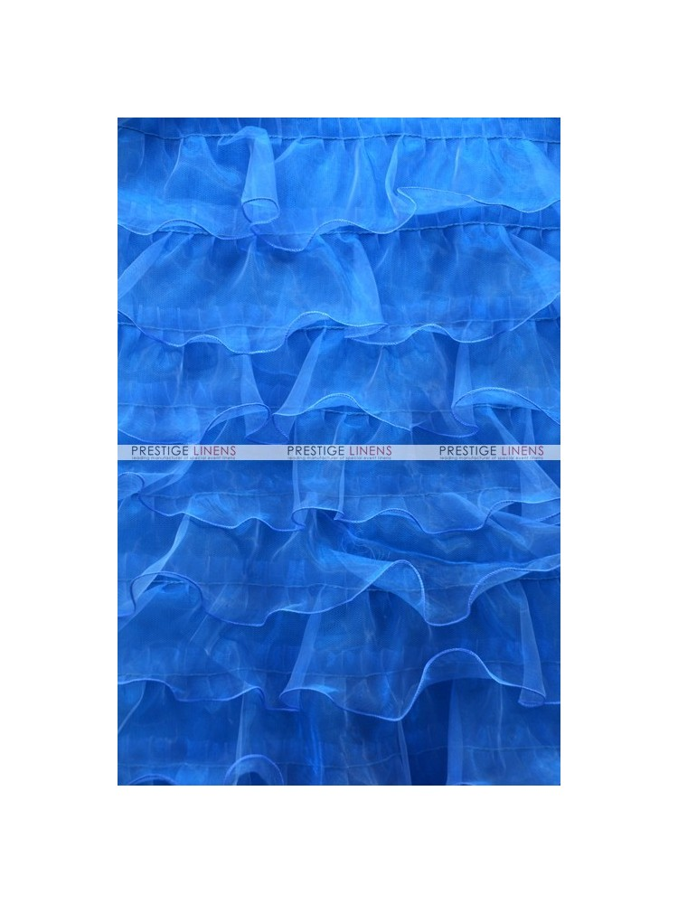 Ruffle Mesh Organza Fabric By The Yard Turquoise