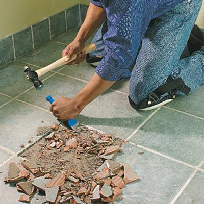 Enlever les tuiles de salle de bains c ramiques - Enlever humidite salle de bain ...