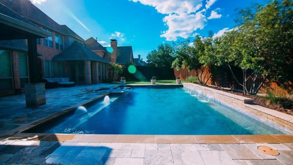 geometric pools prestige pool and patio