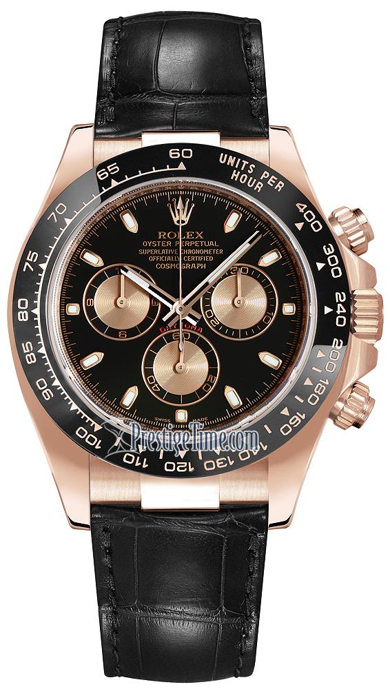116515LN Black And Pink Index Rolex Cosmograph Daytona