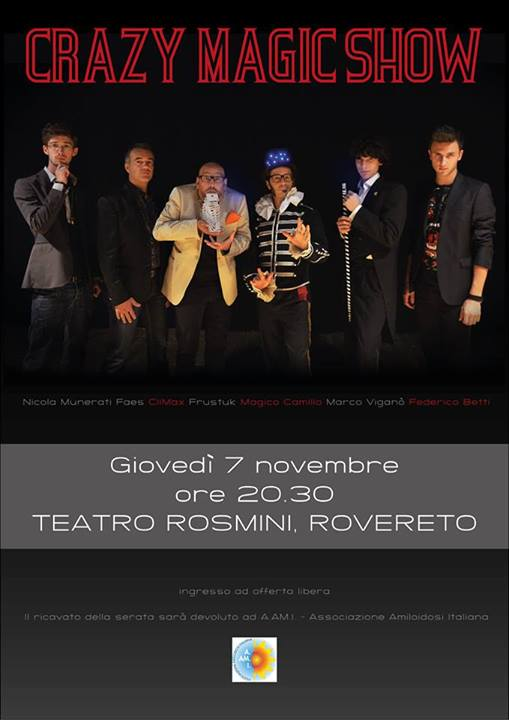 crazy magic show 2013 rovereto