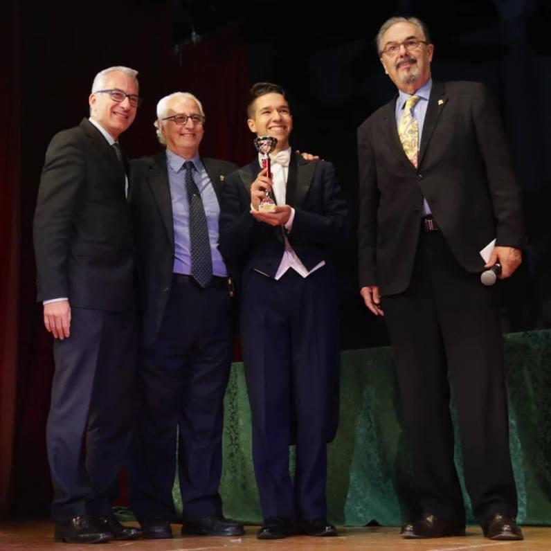 Andrea Baioni, Gianni Loria, Vegas Gabriele Verzolla, Domenico Dante, abano terme 2018