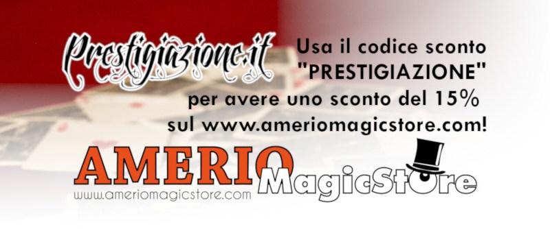 Codice Buono Sconto su Amerio Magic Store