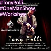 2020, Moncalieri (To), Tony Polli Conferenza, Spettacolo, Workshop instagram