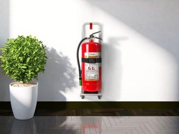Mobil upphängningsanordning för brandsläckare