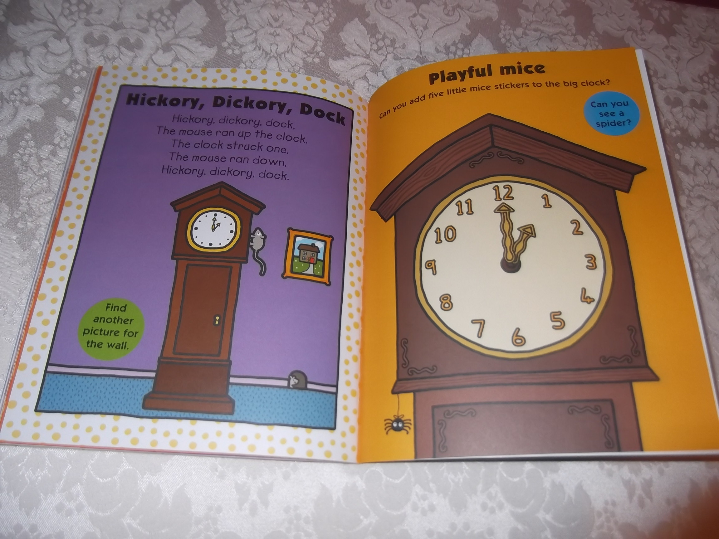 Nursery Rhymes Color And Activity Book With 200 Stickers Brand New Priddy Books