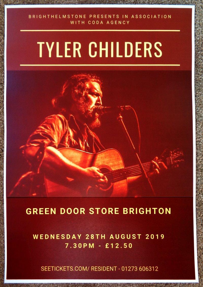 childers tyler childers 2019 gig poster brighton uk concert united kingdom