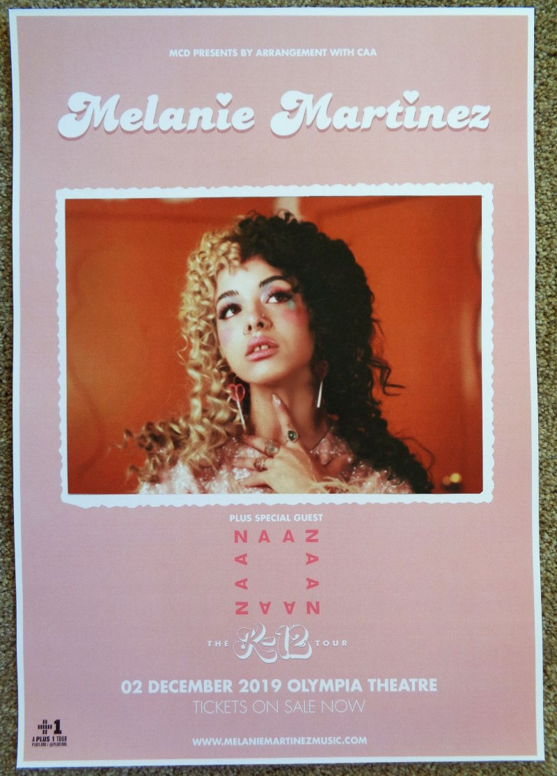 martinez melanie martinez 2019 gig poster dublin ireland k 12 tour concert