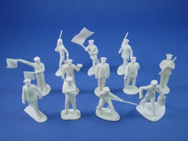 Marx Playset 45mm WWII US Marines And Sailors 25 Soft