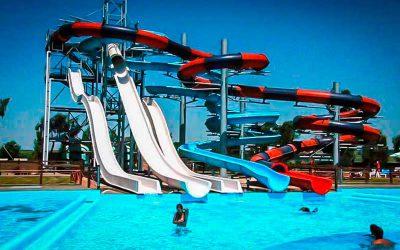 Water park - multiple slide tower