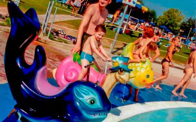 Water park - kid riding