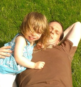 daddy and daughter, outdoor play, field, daddys love