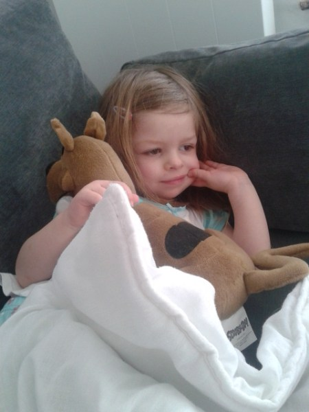 poorly girl, scooby doo, illness,