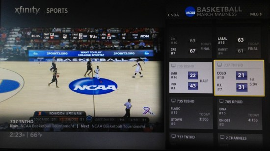 X1 Sports App for March Madness