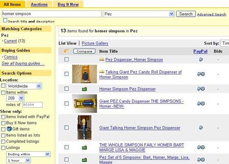 eBay Search Results