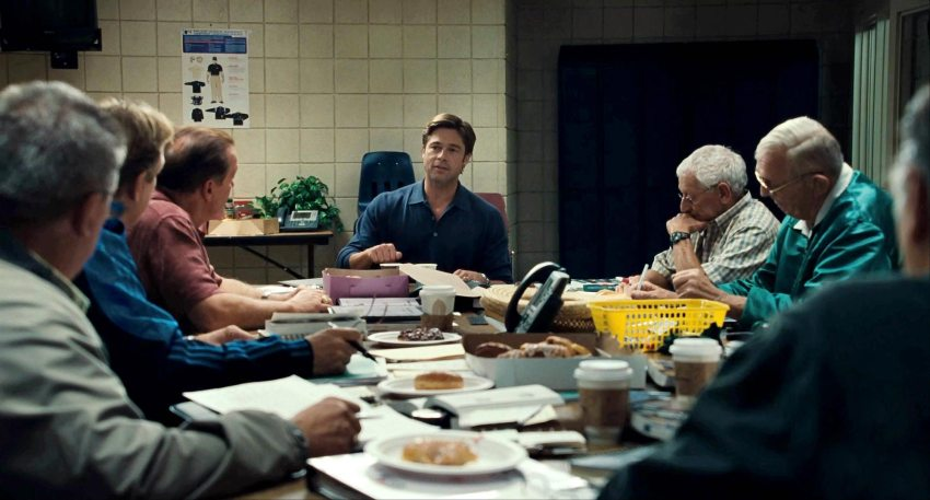Billy Bean character in 2011 Moneyball (via Filmofilia)