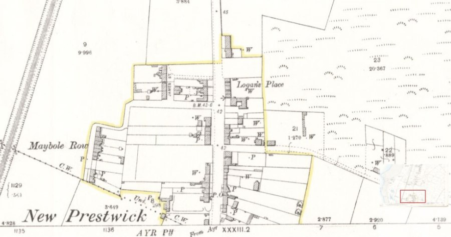 Prestwick Toll - 1892 Ordinance Survey Map