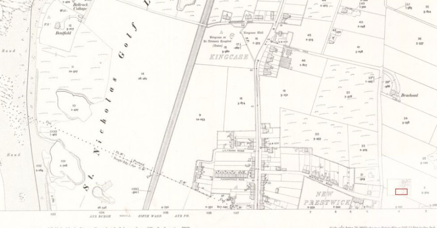 Prestwick Toll - 1908 Ordinance Map