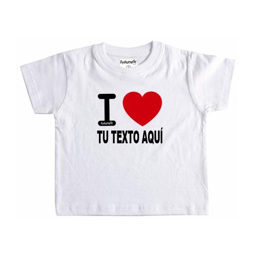 Camiseta I Love personalizada