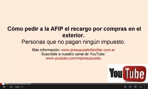 Video Pedir reintegro 20 35 a la AFIP sin pagar impuestos