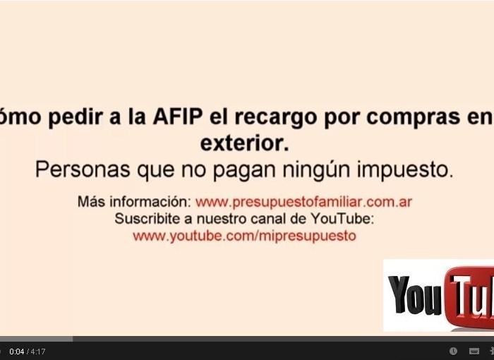 Video: Pedir reintegro del 20/35% a la AFIP si no pagás impuestos