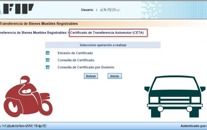 Cómo pedir el CETA para vender un auto usado