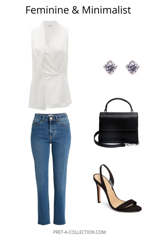 Capsule wardrobe minimalist and feminine