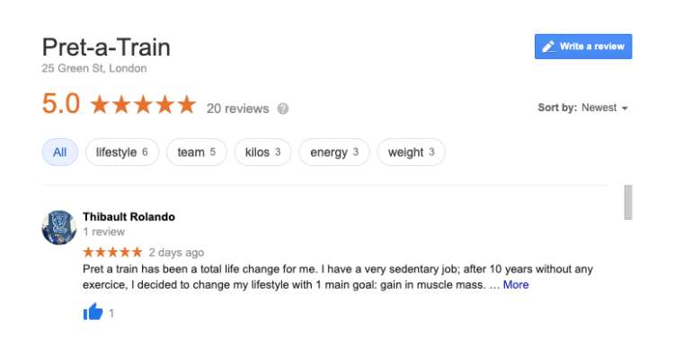 Review Home - Mobile personal trainer in london