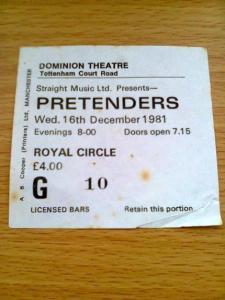 pretenders live shows 1981