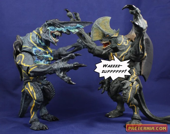 NECA Pacific Rim Series 3 Kaiju Knifehead Battle Damaged Review