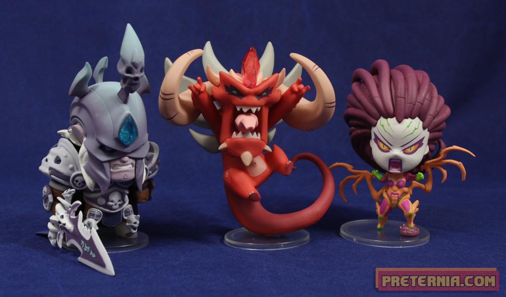 Blizzcon Blizzard 2013 Cute But Deadly Gift Set Kerrigan Diablo Arthas Figures