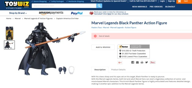 Marvel Legends 2017 Black Panther Comic Based