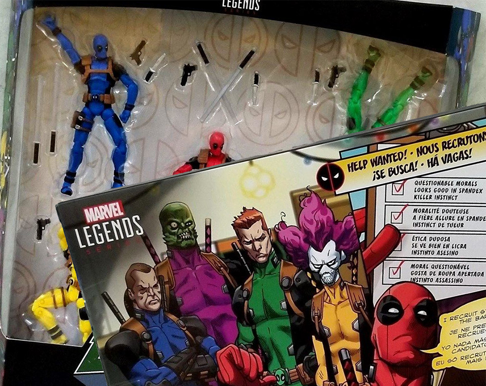 Hasbro: Deadpool Rainbow Squad 3.75-Inch Box Set In Hand Pictures