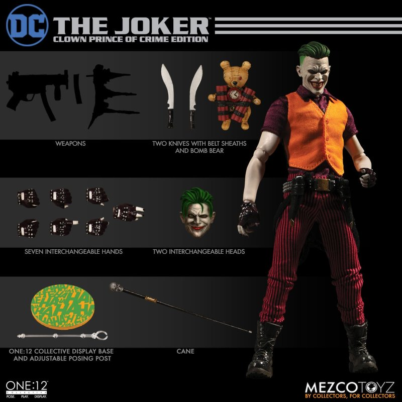 Mezco: One:12 DC The Joker: Clown Prince of Crime Edition Available for Preorder