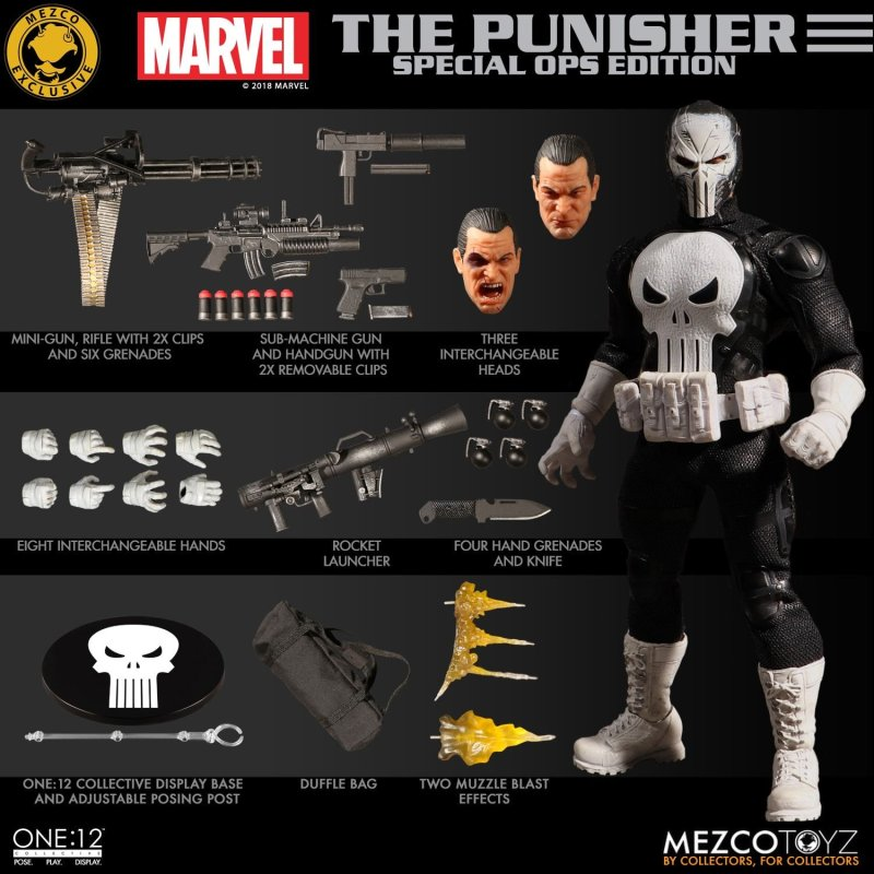 Mezco: One:12 Marvel Punisher: Special Ops Edition Available for Preorder