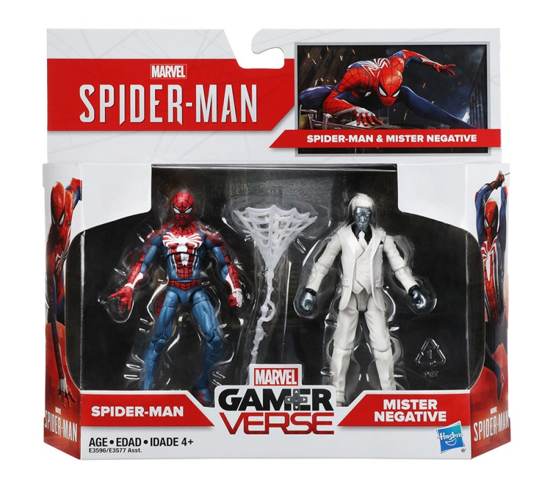 Hasbro Marvel Gamerverse Spider-Man Spider-Man vs. Mister Negative 2-pack_pkg_E3596_v1_current