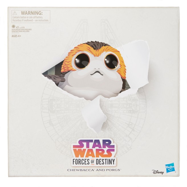 STAR WARS FORCES OF DESTINY CHEWBACCA AND PORGS - in pkg1