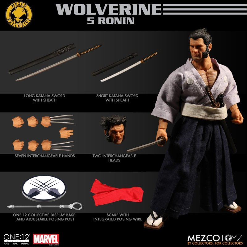 Mezco: One:12 Marvel 5 Ronin Wolverine NYCC Exclusive